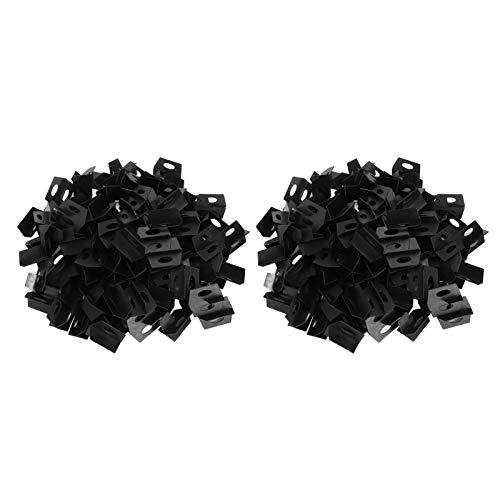 Levelador de azulejos negros, con pp baldosas de baldosas herramienta de nivelación de azulejos de baldosas Leveler espaciadores para pavimentación de azulejos en el piso