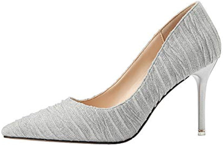FLYRCX Frauen High Heels Mode Spitzen Stiletto flachen Mund Mund Mund einzelne Schuhe sexy Temperament Party Schuhe  ae80a7