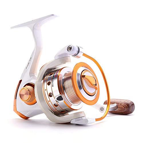 SGKN Deporte al Aire Libre YUMOSHI AX/Bx Carrete de la Pesca 12BB + 1 500-9000 Espiral de Metal Hilado de Giro del Carrete de la Carpa Cebo Sea Rock Barco trastos línea de carretes de Casting