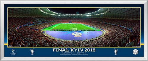 Champions League Finale 2018 Match In Action Hinter Tor 76,2 cm Panorama-Fotografie Real Madrid v Liverpool