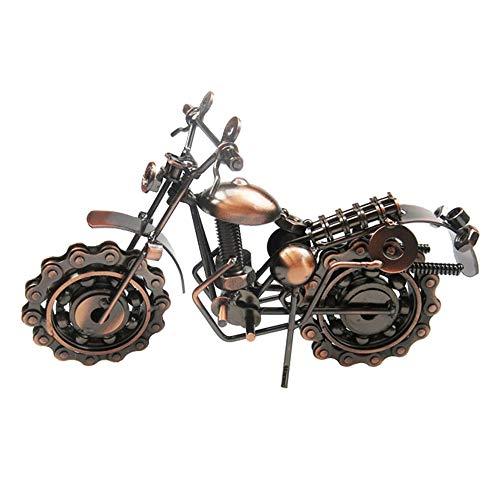 MINGZE Modelo De La Motocicleta De Hierro, Creativo Personalizados Regalo De Los Amantes de la Moto Regalo De Cumpleaños Para La Colección De Arte O Decoración De Escritorio Fotografía Atrezzo