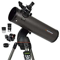 Computerized star locating telescope: The Celestron NexStar 130SLT is a computerized telescope that offers a database of more than 40,000 stars, galaxies, nebulae, and more. The telescope locates your object with pinpoint accuracy and tracks it. Comp...