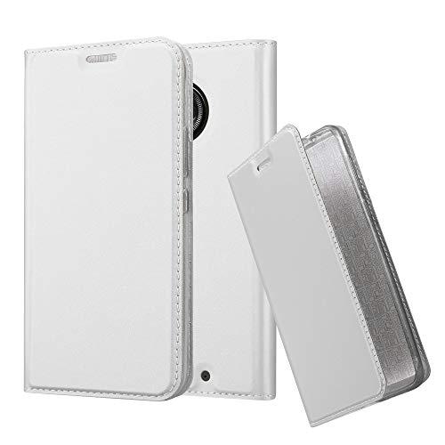 Cadorabo Custodia Libro per Motorola Moto X4 in Classy Argento – con Vani di Carte, Funzione Stand e Chiusura Magnetica – Portafoglio Cover Case Wallet Book Etui Protezione
