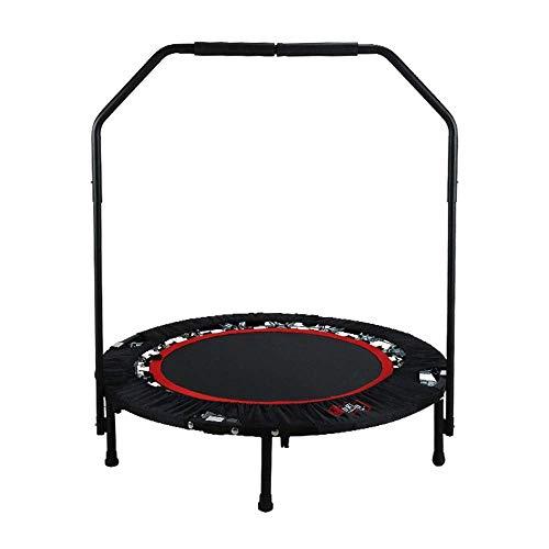 Trampoline 38inch Ronde Adult Folding Trampoline 350kg gewicht van de last Fitness Trampoline Speelgoed met in hoogte verstelbare stuurstang trampoline en overdekking,leilims