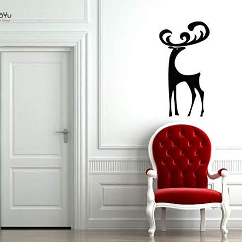 hetingyue Applique Elegante schattige hert dier cartoon verwijderbare vinyl muurkunst decoratie muursticker