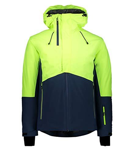 CMP Skijacke Bicolor mit Kapuze Herrenjacke L Gelb fluoreszierend.