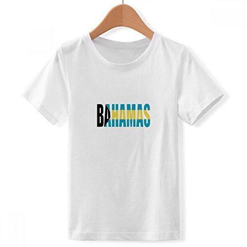 DIYthinker jongens Bahamas land vlag naam Crew Hals wit T-shirt