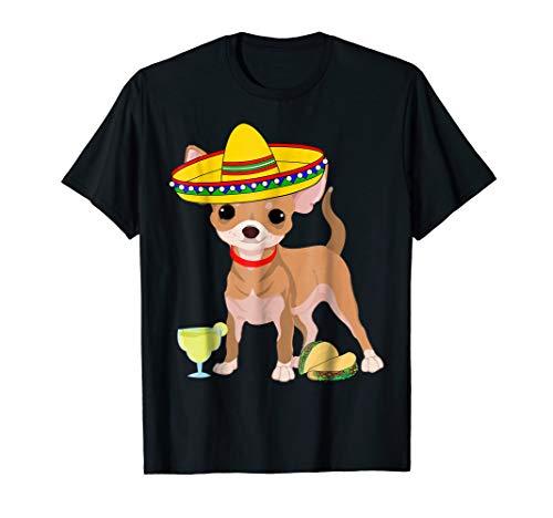 Chihuahua Taco Shirt: Chihuahua Sombrero Tacos Margarita