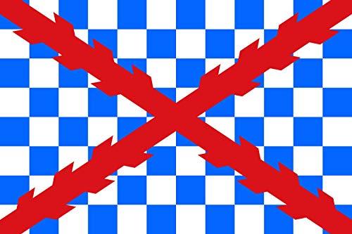 magFlags Bandera Large Tercio Ambrosio de Spinola 1621 | Tercio Ambrosio Spinola hacia 1621. Aparece en la Obra de Velázquez La rendición de Breda | Bandera Paisaje | 1.35m² | 9