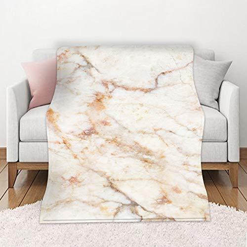 Chickwin 3D Flanelldecke Kuscheldecke, Marmor Super Soft Weiche Wohndecke Warm Flauschige Decke TV-Decke Mikrofaserdecke Sofadecke oder Bettüberwurf Tagesdecke (Beige,150x220cm)