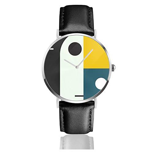Bauhaus AGELederarmband Armbanduhr Casual Classic Edelstahl Quarz Business Uhr