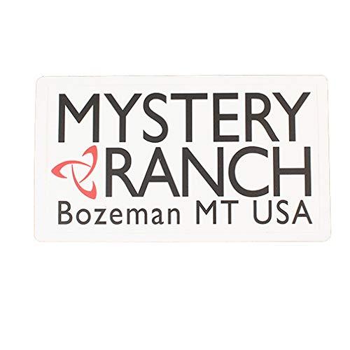 MYSTERY RANCH(ミステリー ランチ) ヘリテージロゴステッカー WHITE