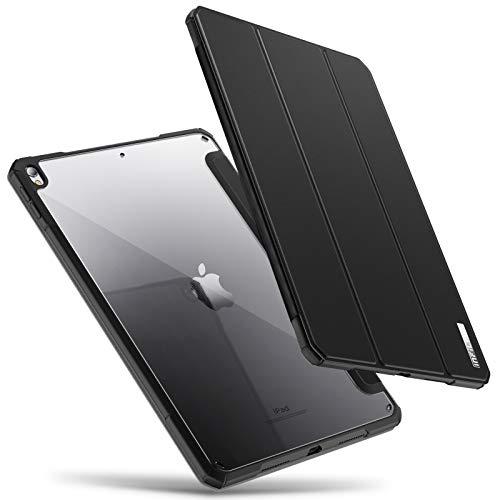 INFILAND Custodia per iPad Air 3(10,5 Pollice) 2019/iPad PRO 10,5 Pollice 2017, Bordo in TPU, Retro Traslucido Cover, Auto Svegliati/Sonno,Nero