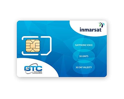 Inmarsat IsatPhone Prepaid SIM Karte mit 50 Einheiten (33 Minuten)