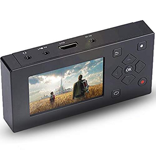 Audio Video Capture Recording Player,tragbarer USB/SD 3\'\' TFT Bildschirm,AV Rekorder Konverter Echtzeit Video Aufpassen achungsanwendung für Kassettenrekorder Kamera/VHS/ VCR/DVD/DVR/Hi8/Spielekonsole