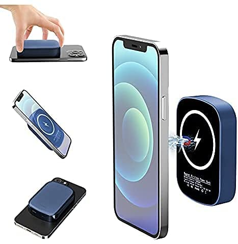 2021 Batería magnética inalámbrica 10000mAh Mag-Safe,mini banco de energía magnético inalámbrico portátil,carga inalámbrica de 15W,versión mejorada adecuada para iPhone12/12Mini/12Pro/12Pro Ma