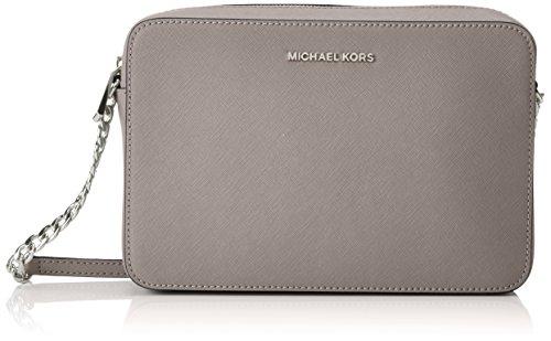 Michael Kors - Jetset Lg Ew Crossbody, Bolsos bandolera Mujer, Gris (Pearl Grey), 2x10x23 cm (W x H L)
