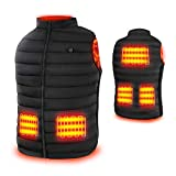 Rrtizan Heated Vest for Mens and Womens, USB Electric Heating Vests, 3 Temperature Levels Electrically Heated Jacket, Size Adjustable, Washable, Winter Warm Vest Coats for Hunting, Outdoor, Camping