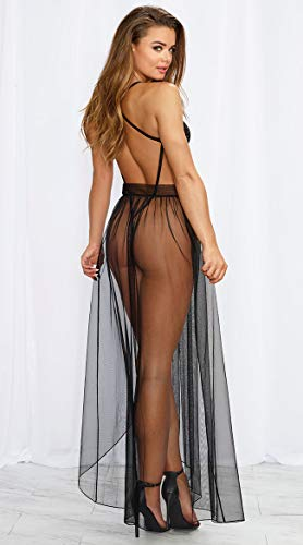 Vestidos Mujer Sexy Conjunto de Lenceria Sexy 2 Piezas Babydoll Encaje Transparente de Lencería Sexy para Mujer