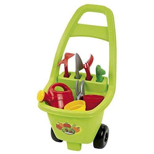 Jouets Ecoiffier -479 - Chariot de jardin et ses outils – Outillage de jardin pour enfants – Dès 18 mois – Fabriqué en France