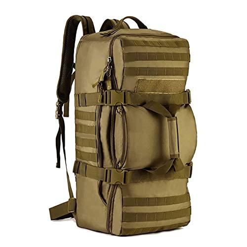 Adesign Juego de Senderismo Ligero Empacable Daypack 60l Viajes de Senderismo Mochila, Mochila Plegable Ultraligera para Mujeres Hombres (Color : Brown)