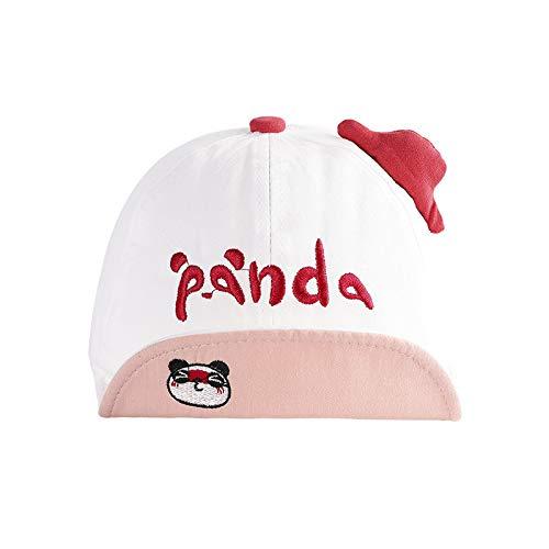 Gorras para niños Primavera Nuevo Bordado de algodón Panda Salvaje Sombrero de bebé de ala Suave sombrilla Sombrero para niños