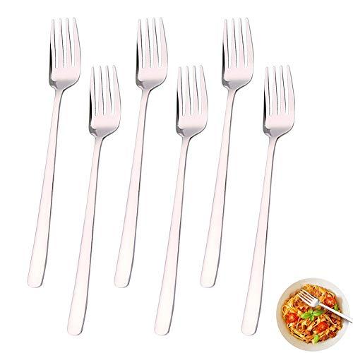 Tenedores de Mesa / 6 piezas Tenedores de mesa de acero inoxidable/...