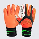 Xfhwyp Guantes de fútbol GK con protección for los Dedos Agarre Fuerte for el Mejor Portero de fútbol for Aumentar el cinturón de protección Dedo Antideslizante Espesor Material de látex Flexible