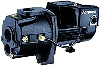 Acquaer 1 HP Dual-Voltage Durable Cast iron Convertible Deep WellJet Pump With Injector kit