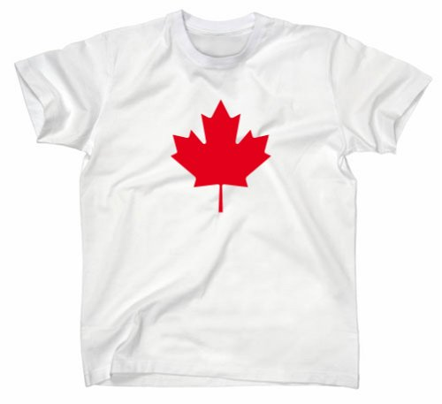 Kanada Canada Flagge T-Shirt Ahorn, Weiss, L