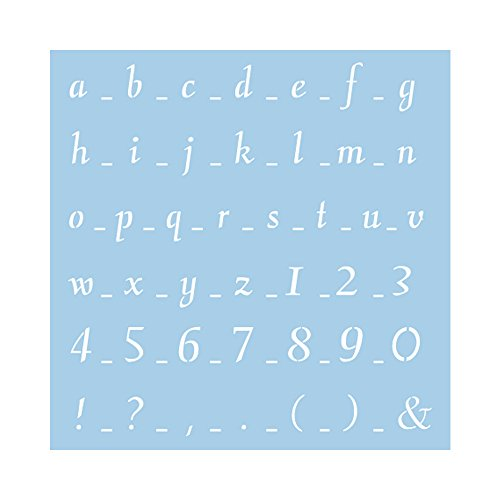 RAYHER 3836100, sjabloon, 30 x 30 cm, SB-zakje. 1 stuks, lettertype 1.