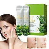 Green Tea Sleep Face Cover Stick Purificante Mascarilla de Arcilla Verde sólida Stick Mascarilla Facial Hidrata el Control de Aceite, Limpia los poros, Mejora la Piel Limpia los poros