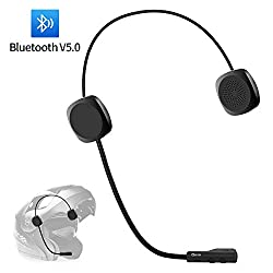 Motorcycle Bluetooth Headset Geva Helmet Bluetooth Headset w//Twistable Mic HandsFree Automatic answer HD Stereo Music for 8 Hours Voice Dial and Promp of Incoming Number