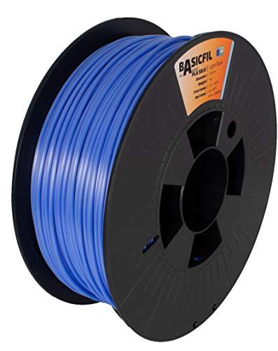 BASICFIL PLA SILK 2.85mm, 1 kg, filamento per stampante 3D, Azzurro
