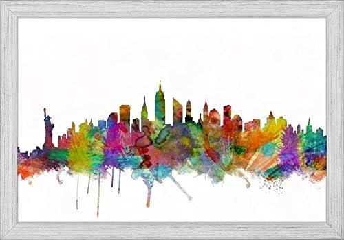 Easy Art Prints Michael Tompsett's 'New Mesa Mall Popular products Skyline' City York Premi