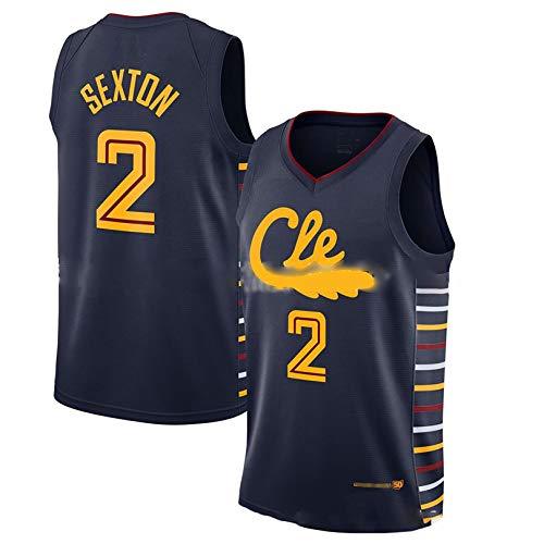YENDZ 2021 nuevo uniforme de baloncesto para hombre, Cavaliers Nº 2 Sexton, secado rápido y transpirable S negro