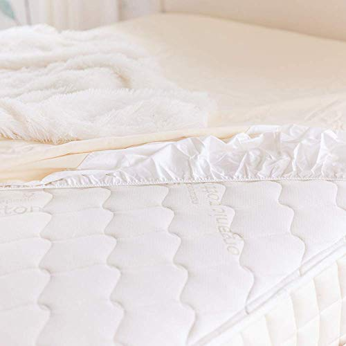 """Naturepedic Organic Waterproof Fitted Stretch Knit Protector Pad - Twin - 38""""x 75"""""""