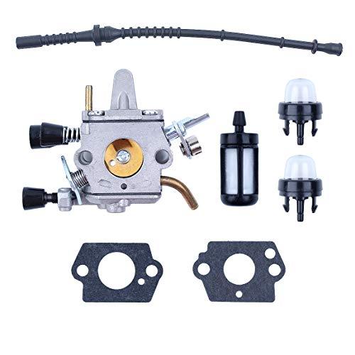 Carburador Fuel Hose Primer Juego de Bombillas Fit STIHL FS120 FS120R FS200 FS200R FS020 FS202 FS250 FS300 FS350 Desbrozadora Trimmer