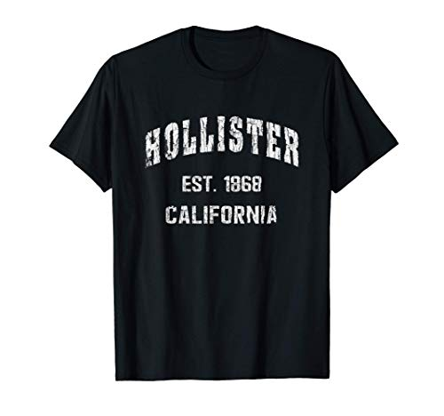 Hollister, California Home Souvenir . EST. 1868 . blue T-Shirt