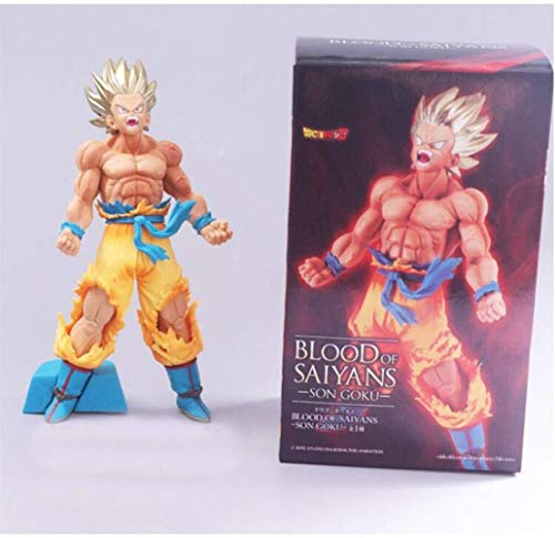 YLSP Exquisite Hand Model Super Saiyan Goku Dragon Ball Puppet Animation Model Sculpture Statue Decorated Boutique (Color : -, Size : -) image