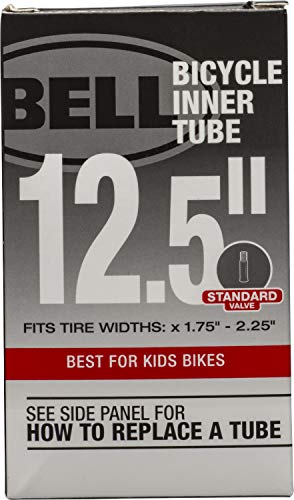 Bell 12-1/2-Inch Universal Inner Tube, Width Fit Range 1.75-Inch to 2.25-Inch, Black