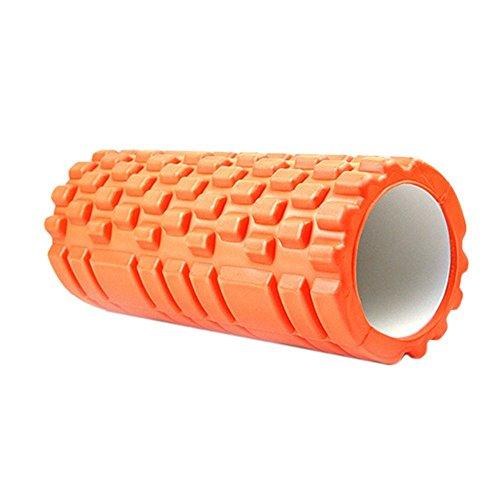 Tourwin-Rullo per Massaggio Muscolare, Sollievo mal di Schiena , Roller per Trattamento ,High Density Foam Roller,Yoga, Pilates, Strumento Domestico per Sport 30*10cm Orange