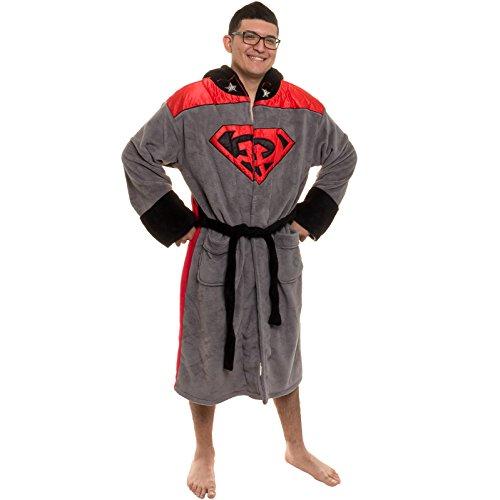 DC Comics Superman Rot Son Hooded Fleece Bademantel
