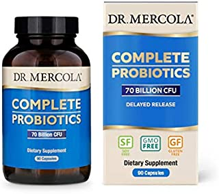 Dr. Mercola, Complete Probiotics (70 Billion CFU) 90 Servings (90 Capsules), Helps Support Digestive Health, Non GMO, Soy Free, Gluten Free