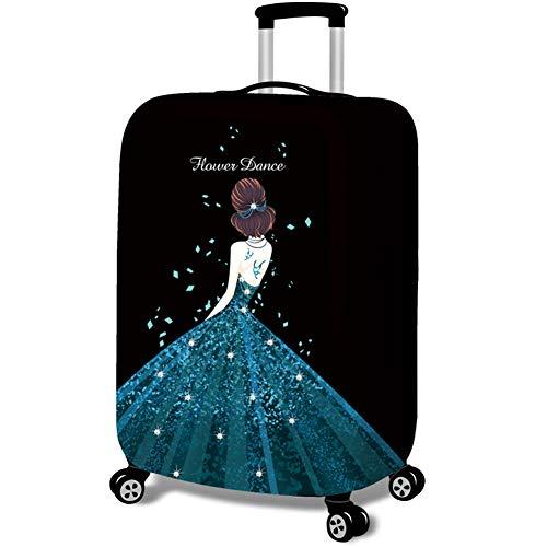 Kofferhülle Koffer Abdeckung Kofferbezug Luggage Gepäck Cover Kofferschutzhülle Mädchen im Kleid Drucken Style4 M(Fit 22-24 Zoll Koffer)