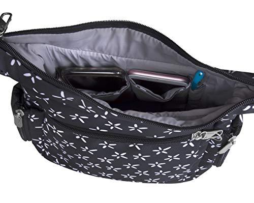 Travelon Anti-Theft Classic Messenger Bag (A B/W SMALL FLOWER PRINT)