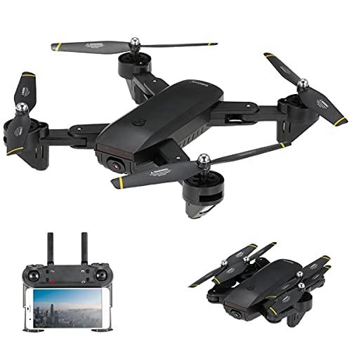 BINDEN Drone Plegable DM107s Selfie con Doble Cámara HD, Transmisión en Vivo, Posicionamiento Óptico, Control de Altitud y...