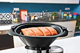 Moulinex HF4568 Click Chef Küchenmaschine mit Kochfunktion (1400 Watt, 12 Geschwindigkeitsstufen, Gesamtvolumen: 3,6 Liter, 28 Funktionen, inkl. Zubehör und Rezeptheft) Schwarz - 9