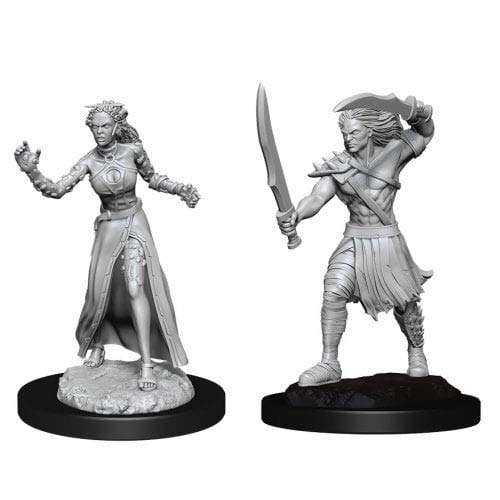 Dungeons & Dragons Magic: The Gathering Unpainted Miniatures: Vampire Lacerator & Hexmage