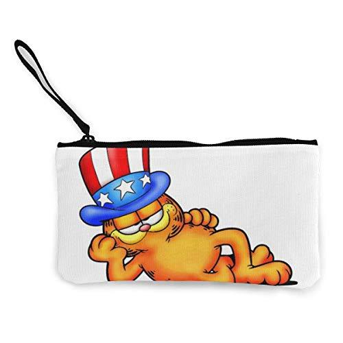 The Garfield (2) Monederos de dinero en efectivo?Bolsas de lona con cremallera con correa de muñeca para teléfono móvil